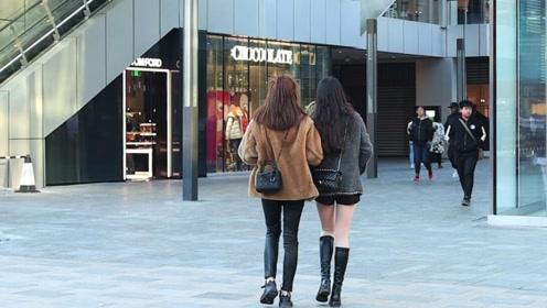 三里屯街拍:长靴保暖、瘦腿、好搭配,美女穿长靴逛街真时尚!