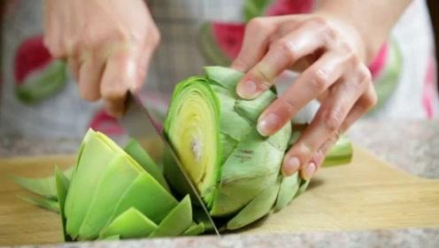 """被称""""蔬菜之皇""""的洋蓟,厨师一刀切开后,终于明白贵在哪!"""