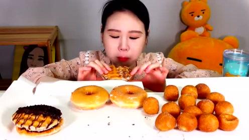 动手吃甜点:吃美味甜甜圈 芝士球