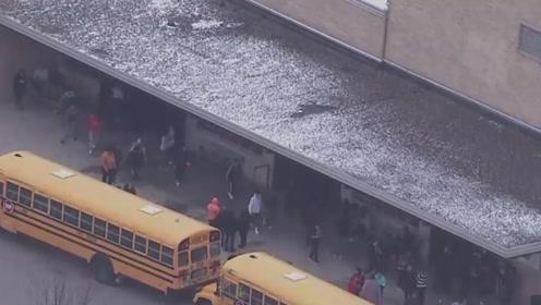 美国威斯康星州两天发生两起校园枪击案 学生持武器与校警对峙