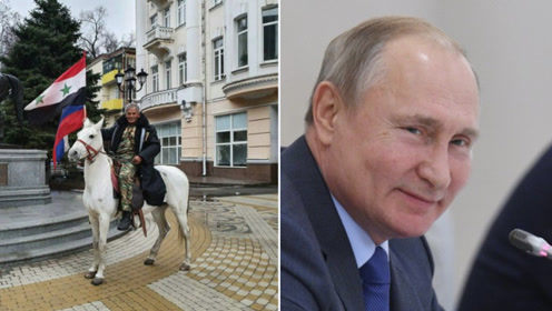 叙利亚旅行家骑马跋涉万里赴俄感谢普京,为其送骏马
