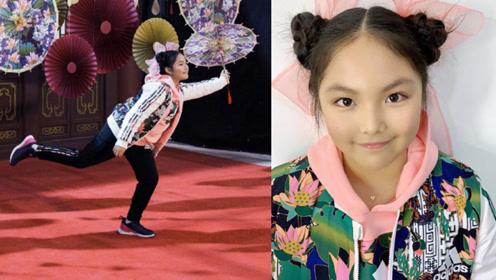 10岁王诗龄拍广告身材圆润福气满满,爸妈陪伴齐上阵