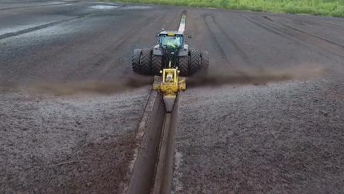 盘点各种强大现代化农业化机器,最后那个水渠挖凿机最牛,过程满足强迫症