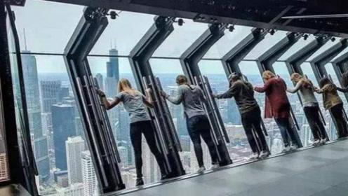 美国最惊险的观景台,透明玻璃体验94层楼坠落,无安全绳索比蹦极还刺激!