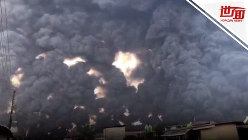 尼日利亚石油管道爆炸 火势凶猛已致多人丧生