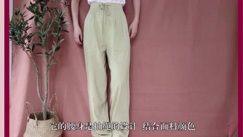超时尚的裤子,搭配起来也很方便
