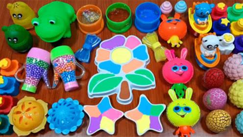 创意史莱姆,小水果彩色珍珠、小兔子泥、海星五彩泥、亮粉泥,解压又好玩