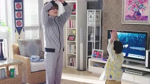 二胎:王爱华早上练瑜伽!还要豆豆跟着他做