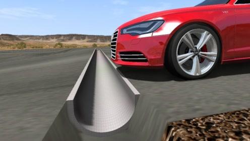 反装减速带有多可怕?3d动画模拟全程,场面惨不忍睹!