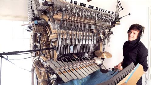 这是乐器吗?外观好像一件机械艺术品,一直踩着就能发出音乐声!