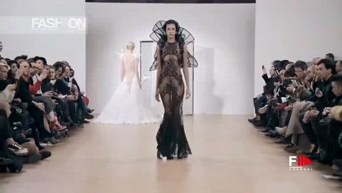 这样包裹全身的黑纱设计,也太浮夸了吧,艺术感爆棚!