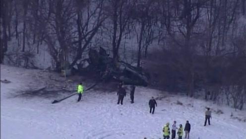 现场来了,美国黑鹰直升机雪地坠毁,机上三名士兵身亡