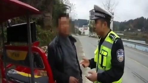 """好大的口气!男子违法驾车被查放""""豪言"""":交警都是我们家开工资"""