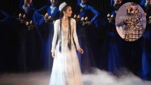 佟丽娅照顾受伤舞者, 亲手给受伤舞者披上 人美心善