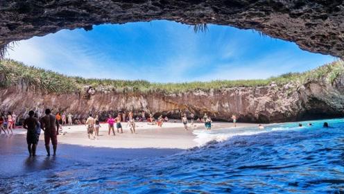 世界上最神奇的海滩,网友:这是仙界吗?