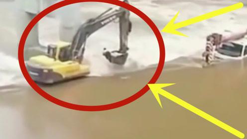 堪比好莱坞!挖掘机司机危急时刻神操作,成功救下男子性命!