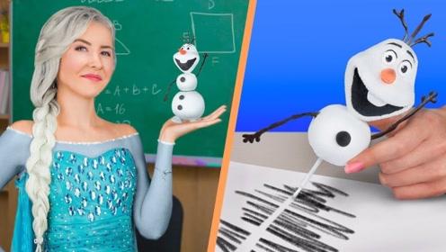 回到学校,10个有趣的学校用品创意,DIY雪人修正液好用吗