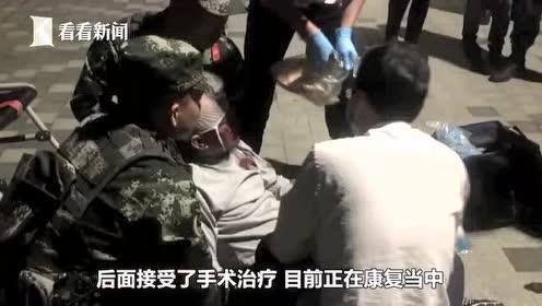 老人突然晕倒 武警飞奔救援我们是武警战士不怕碰瓷 12月4日