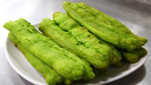空心绿色油条做法,不用去早餐店买了,个个都是空心,简直太好吃