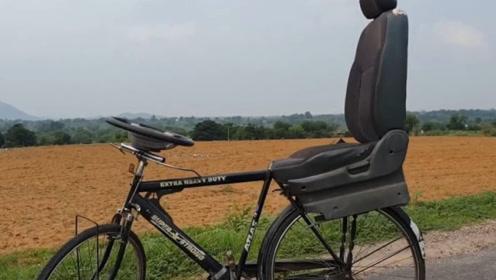印度小哥这样改装自行车,奇思妙想让人赞叹