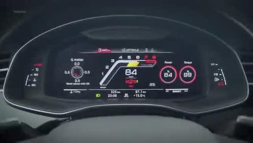 仪表盘展示,全新一代奥迪RS Q8测试