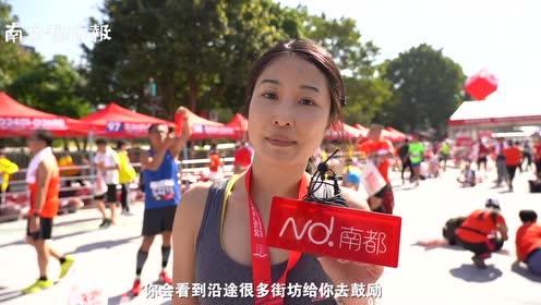 广马跑者赛后送祝福!57岁阿姨一年跑16场,称还能奔跑很荣幸