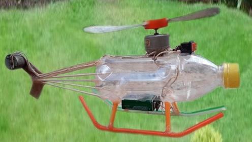 好厉害!6根竹签1个塑料瓶制作的飞机,结果会怎样呢?