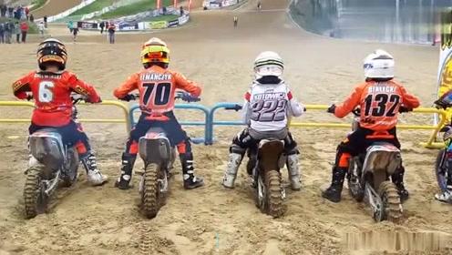 实力超群的摩托车比赛,小朋友都很牛!