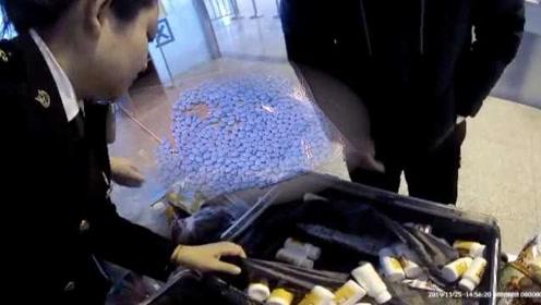 """大叔带一箱药品去韩国,包括729粒""""伟哥"""":送给亲友"""