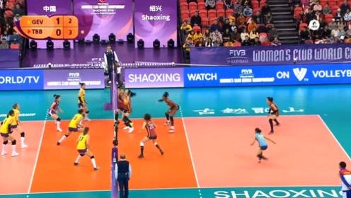 女排世俱杯七八名决赛 天津渤海银行VS广东恒大 第二局回放