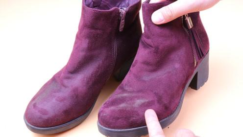 原来绒面鞋这么好打理,不用水洗不用晒,多脏的鞋子也能变干净