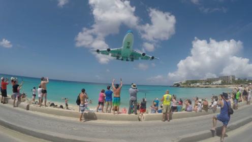 世界上最危险的沙滩,飞机从头顶几米处飞过,仍有无数游客来此!