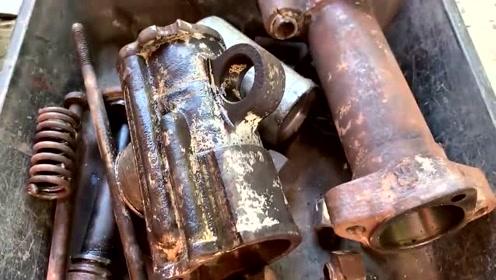 小伙从废品堆里扒出这个工具,修复后跟新的一样