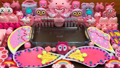 DIY史莱姆教程,粉色系原料混搭,手感不错呢