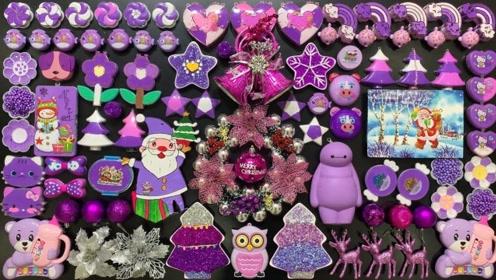 浪漫紫色史莱姆套装,圣诞节特别套装,自制史莱姆