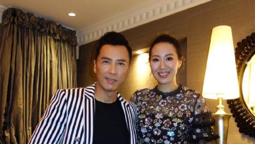 甄子丹夫妇一同出席活动 38岁汪诗诗身材超好长腿抢镜
