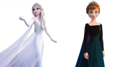 《冰雪奇缘2》公开最新造型照 艾莎白色披风长裙美翻了