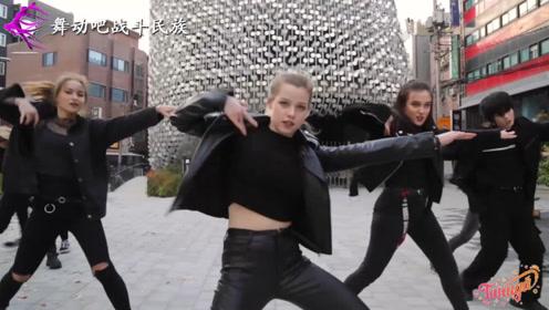 当战斗民族女孩和韩国小伙斗舞,网友:差距不小啊