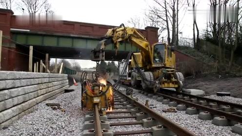 令人敬畏的德国铁轨无缝焊接技术,网友:无敌是多么寂寞!
