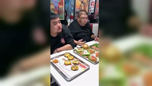 大胃王吃播 吃10个汉堡不吃肉 吃完属实挺难受!