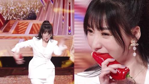 """吃辣椒变""""拉丁舞者""""?柳岩生吃辣椒跳舞,表情也是很到位"""