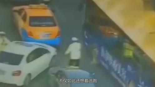 看到交警查车,轿车司机疯狂逃窜,这是犯了什么事?
