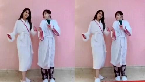 杨丞琳王心凌穿睡袍同框跳舞 不顾形象左右摇摆心情佳