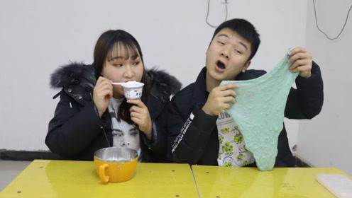 不用任何无硼砂材料改造硬泥,苏喂如何做到?结果同桌倒立喝酸奶