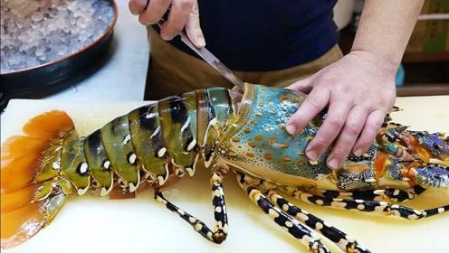 三千块钱的彩虹虾,怎么吃才能不浪费?看看日本厨师料理它!