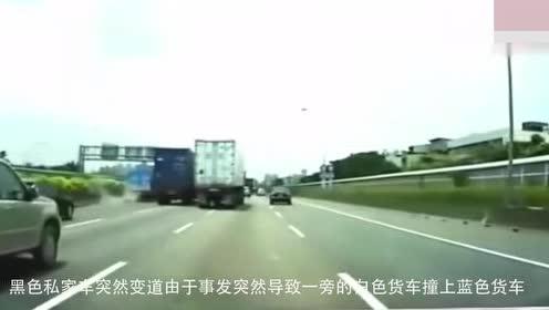 小轿车一个失误动作!3秒之后导致悲剧害人害己
