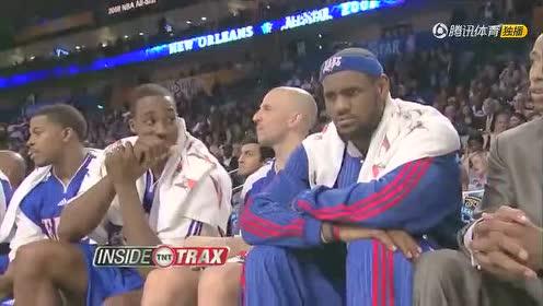 8年三次举办 回顾08年新奥尔良全明星正赛詹皇隔扣四人加冕;