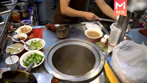 原来台湾夜市的海鲜粥是这样做出来的,怎么看都不像粥,更像是泡饭
