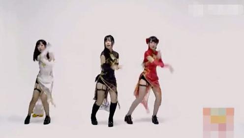 三个日本妹子跳《极乐净土》,真美