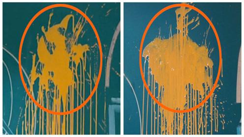 《你好,旧时光》穿帮镜头:对比!前后两种形状的黄漆